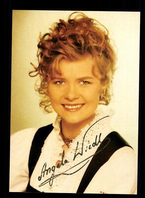 National Offizielle Website Angela Wiedl Autogrammkarte Original Signiert ## Bc 146978