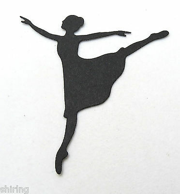 "4/"" Dance Silhouette Ballerina Ballet Dancer Die Cuts Embellishment"