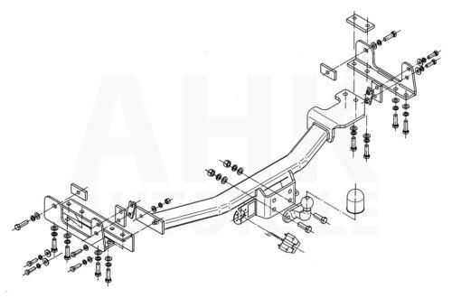 Für Toyota Land Cruiser J100 98-02 Anhängerkupplung starr+E-Satz 7p