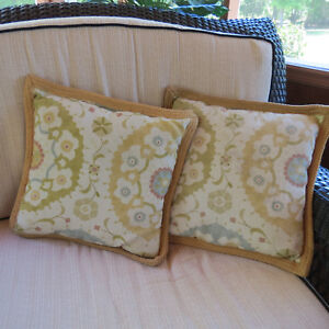 Throw Pillows Set Of Two Indoor Outdoor 17 X 17 Multi Color Pattern