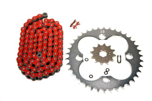Honda TRX 250X Red X-Ring Chain /& 12//38 Sprocket Set TRX250X//Power 1987-1992