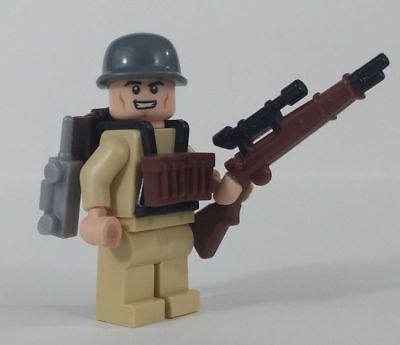 Lego Custom WW2 USA PARATROOPER Minifigure Brickarms M1 Weapons Army Military