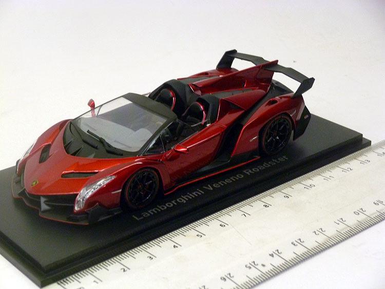 05572rm Kyosho 1 43 Lamborghini veneno roadster rouge metallic rouge line