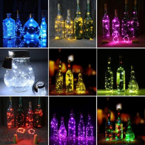 Colorful 1.9M 20 LED Cork Shape String Fairy Night Light Wine Bottle Lamp Decor