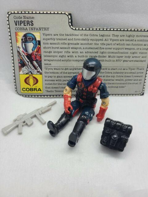 GI Joe Figure Vintage 1997-2006 Cobra Vipers Infantry #15a GRAY 1998