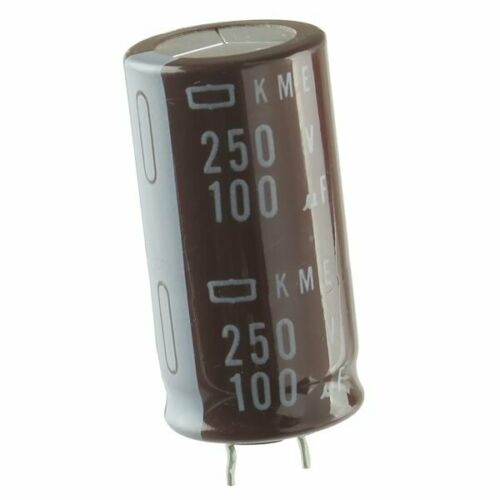 Nippon Chemi-Con  100uF 250 Volt Snap Lead Electrolytic Capacitor USA Seller