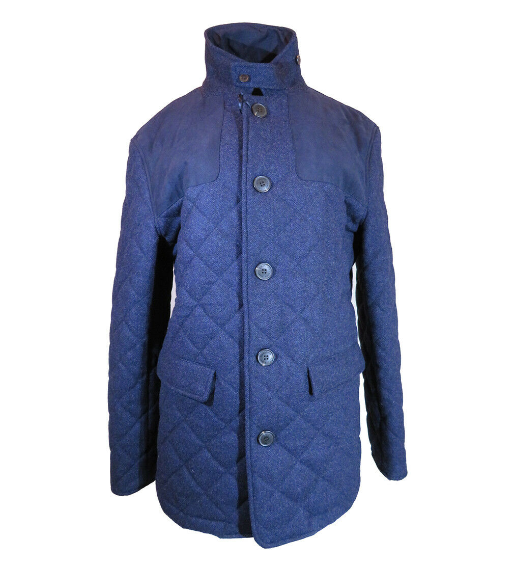 Hart Schaffner Marx Quilted Barn Coat, Size-M