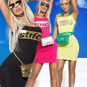 By-Alina-Mexton-kleid-Minikleid-Longshirt-Traegerkleid-Bodycon-Kleid-Print-XS-M