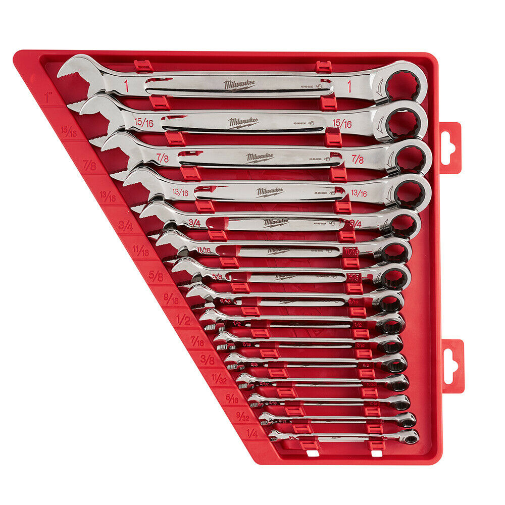 Milwaukee 48-22-9416 15 Piece Ratcheting Combination Wrench Set - SAE. Buy it now for 218.50
