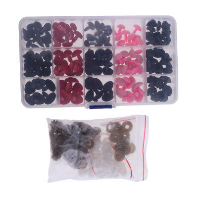 130pcs Plastic Safety Noses with Case for Teddy Bear Doll Puppet DIY Craft