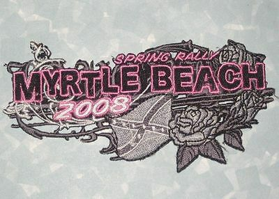 South Carolina Myrtle Beach Spring Rally 2008 Patch Motorcycle Biker