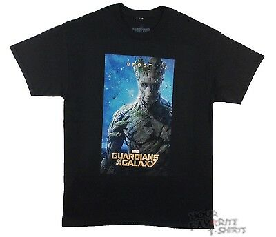 Guardians Of The Galaxy Groot Poster Marvel Comics Licensed Adult T Shirt