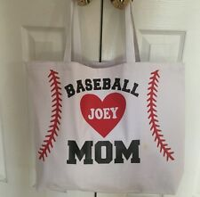 Customized Sports Mom Tote Bag Baseball Softball Soccer and other Sports