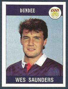 PANINI-FOOTBALL-90-358-DUNDEE-NEWCASTLE-UNITED-CARLISLE-UNITED-WES-SAUNDERS