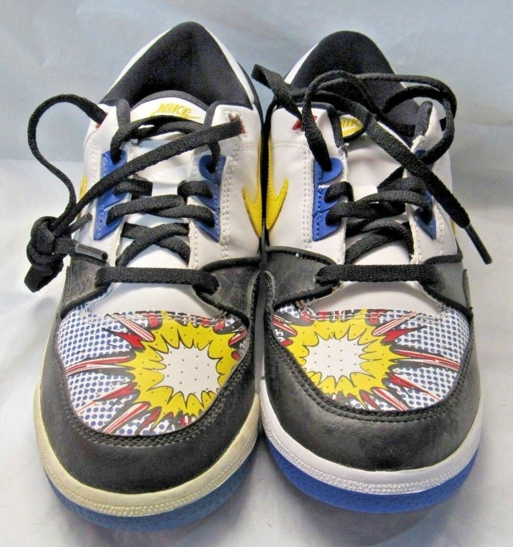 NIKE 316684-172 Air Assault Low (GS) White Zest Black Royal Sneakers Size 3Y