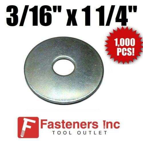 """3//16/"""" X 1 1//4/"""" Zinc Plated Fender Washers QTY 1000 PCS"""