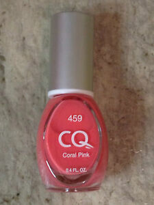 NEW CQ NAIL POLISH IN 459 CORAL PINK LACQUER .04 FL OZ DISCONTINUED ...