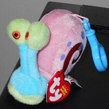 Ty Beanie Baby~ GARY the Snail (Spongebob)(Plastic Key Clip)(3.5 inch) MWMTs NEW