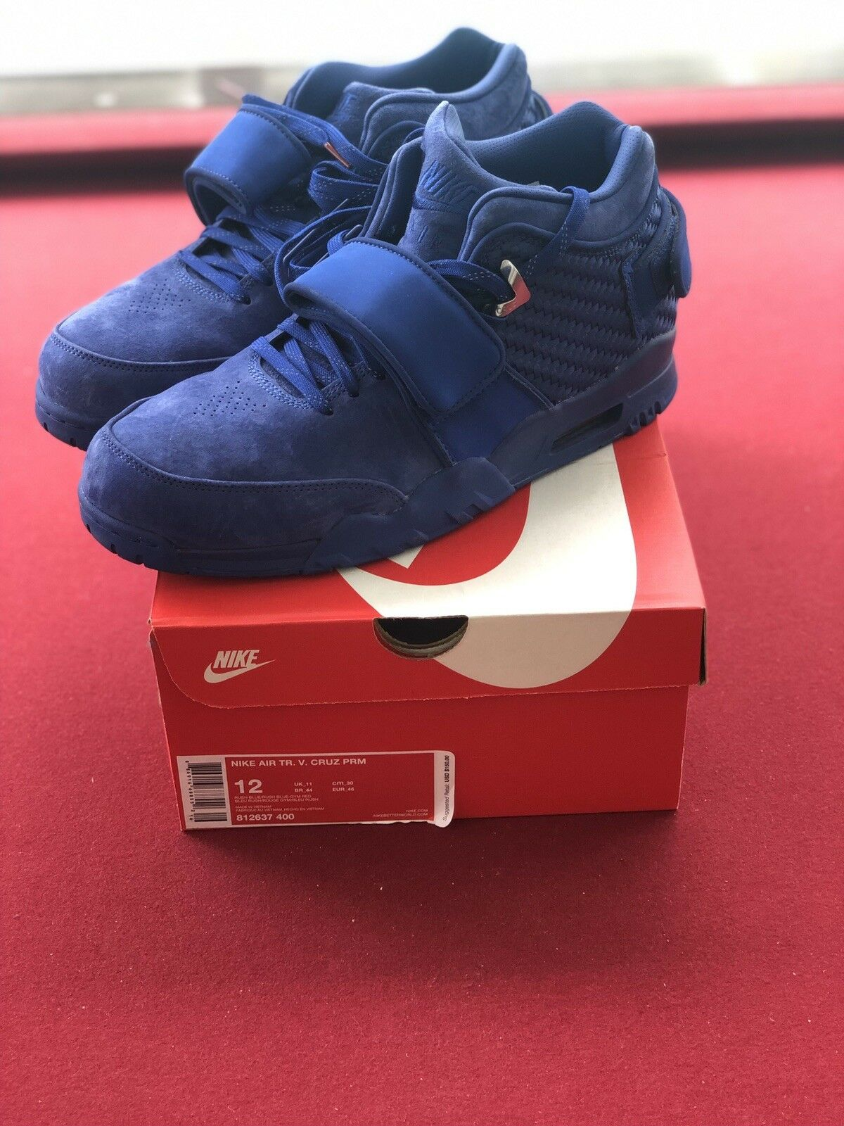 Nike Air Trainer Victor Cruz PRM Premium blueee Gym NY Giants 812637-400 Size 12