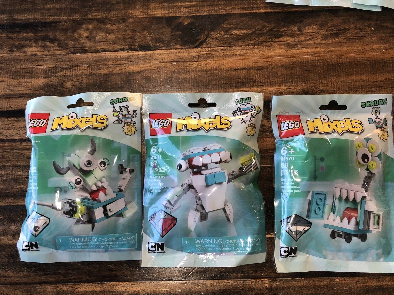 BRAND NEW LEGO Mixels Series 8 Surgeo 41569 Skrubz 41570 Tuth 41571 LEGO LOT NEW
