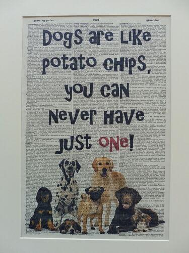 funny dog quotes Dog Print No.530 dictionary prints