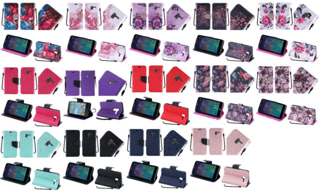 "Wallet Pouch Case Phone Cover for Alcatel One Touch Tru 5060n Pop 3 (5"") Stellar"
