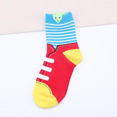 Zapatos Divertidos Dibujos Animados 3D Calcetines para señoras para mujer Chicas Socks Colores Brillantes