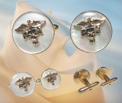 Nurse Cufflinks RN Medical Cufflinks Vintage Cuff Links Vintage Medical Gift Gift  for Nurse