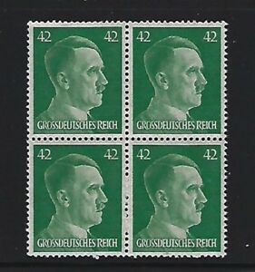 MNH-Adolph-Hitler-stamp-block-1944-PF42-Original-Third-Reich-Germany-Block