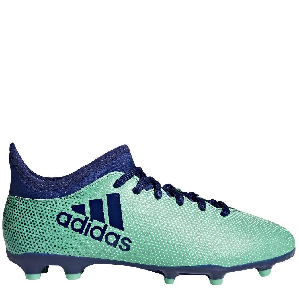 Adidas Kinder X 17.3 FG Fußballschuhe hellgreen blue [CP8993]