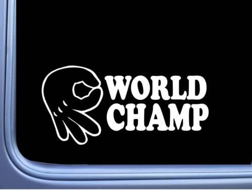 Circle Game World Champ Vinyl Decal M122 8 Inch Sticker car laptop mickey hand