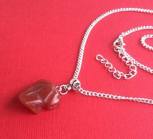 NEW-Carnelian-Gemstone-Frog-Unique-Pendant-Necklace-Women-039-s-Aussie-Seller