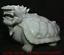 """miniature 4 - 9,6 """"Dushan Jade Sculpture Feng Shui Dragon Tortue Tortue Statue De Richesse"""