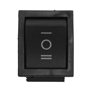 Baomain 6-Terminals 3 Position ON//Off//ON DPDT Boat Rocker Switch 16A 250VAC 16A 125VAC 2 Pack