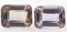 Ametrine 8x6 Emerald Cut 2 Stones 2.80cts only $9.99