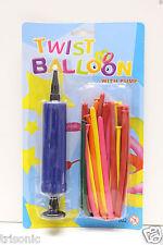 12 Mixed Color Magic Long Animal Tying Making Twist Latex Balloons + FREE Pump