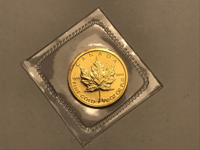 2009  1/10 oz GOLD MAPLE COIN 24 CARAT - Canada - Ottowa Mint - TENTH OUNCE