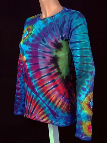 Nuevo Gr a Psy teñida Tie mano Camiseta Goa de Hippie mujer Batik 5xl S larga Dye manga axUpEwq0