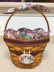 Longaberger 2000 May Series Morning Glory Basket Tie-On