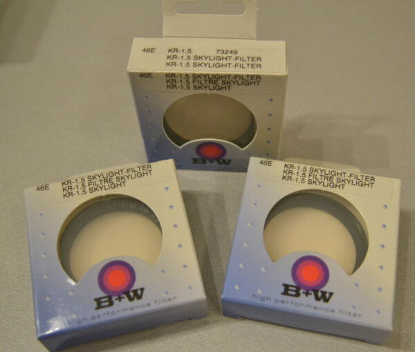 (prl) B+w Pro Filtro Filtre Filter 46 E Kr-1,5 Ref. 73249 Filtar Filtru Skylight Les Clients D'Abord