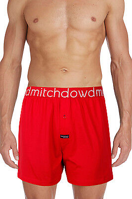 NEW Mitch Dowd Plain Loose Knit Boxer R17 Red