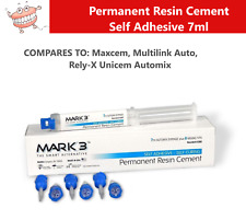 Dental Permanent Resin Cement Self Adhesive Self Curing 7ml Syringe 6 Mix Tips