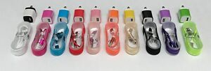 10x Color Travel Wall Home Charger + 5FT Braided Micro USB Cable For All phone