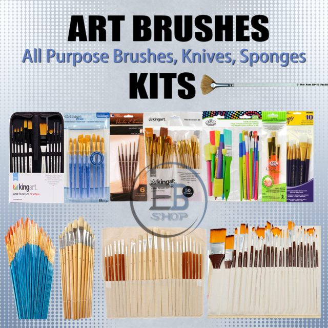 Paint Brushes For Watercolor Oil Acrylic Painting Lot Artist Quality Set Art