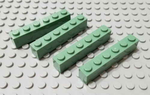 LEGO New Lot of 4 Sand Green 1x6 Brick Pieces Mine Craft Harry Potter RARE