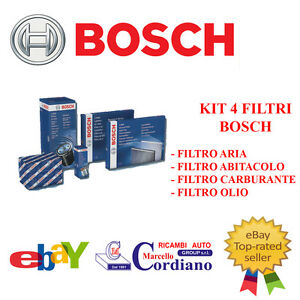 KIT-FILTRI-TAGLIANDO-BOSCH-MERCEDES-CLASSE-A-180-CDI-W169-80-KW-109-CV
