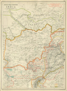 Details about India North-west Frontier  Afghanistan Bokhara Punjab   BARTHOLOMEW 1898 map