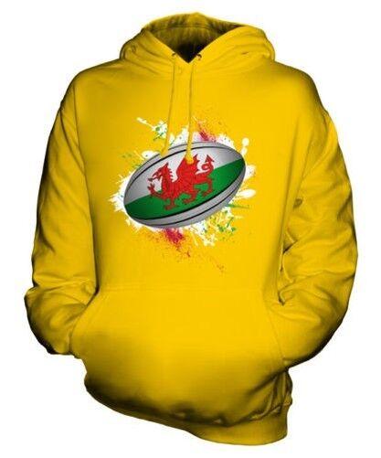 De Galles Ballon de Rugby Éclaboussures Sweat à Capuche Unisexe Haut Cadeau