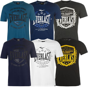 Everlast-Herren-T-Shirt-Tee-Sr82-Shirt-Kurzarm-Baumwolle-Fitness-NEU-S-4XL-Sport