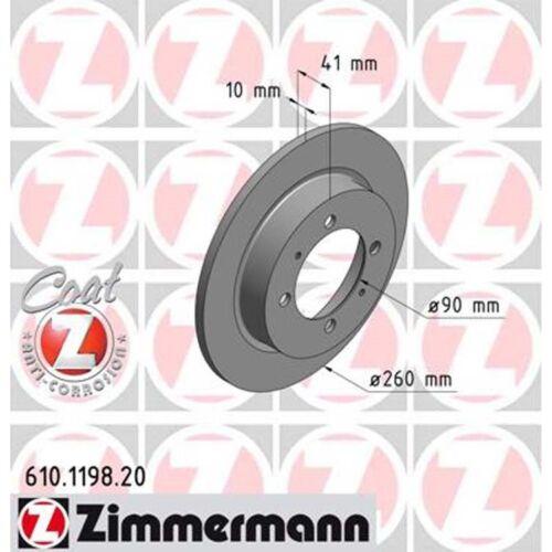 2 Zimmermann Bremsscheiben Mistubishi Carisma Volvo S40 V40 260mm voll hinten